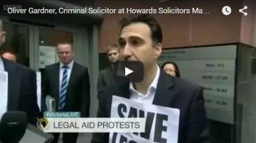 Oliver Gardner Interview BBC Television. Legal Aid Strike