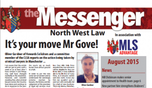 Oliver Gardner, Howards & Henry's Solicitors in Manchester Law Society Messenger