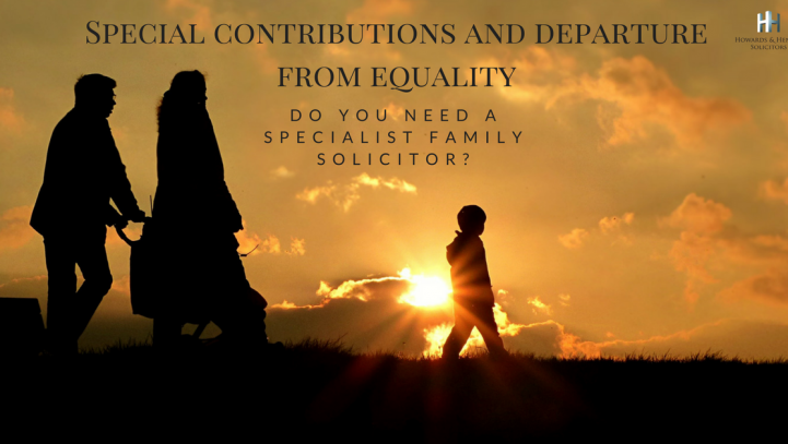 Divorce: Special Contributions and Departure from Equality